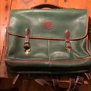 Roots leather briefcase/knapsack